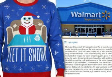 Walmart Canada Apologizes For Sweater Featuring Santa with Cocaine