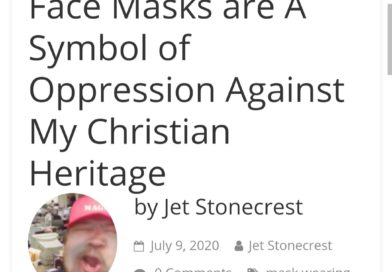 Face Masks are A Symbol of Oppression Against My Christian Heritage